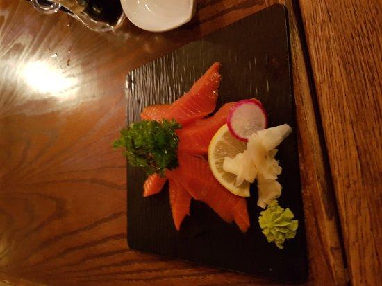 Cranbrook, Canada: Sockeye salmon sashimi