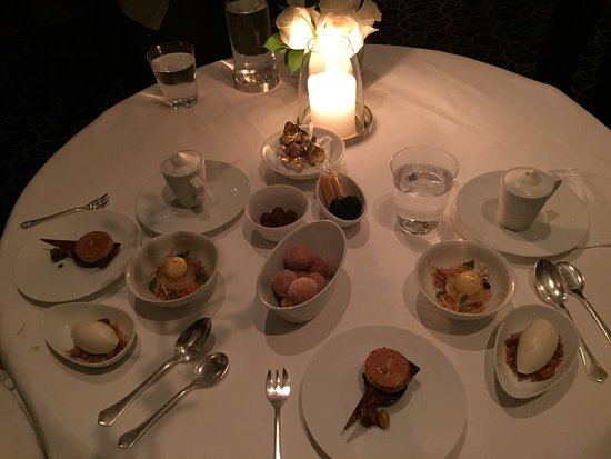 Beginning of the dessert course at Per Se!