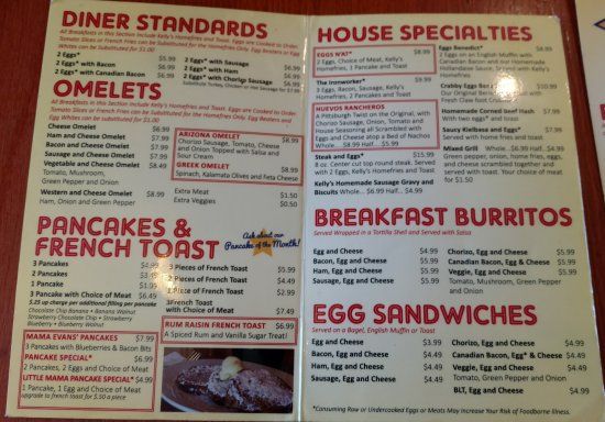 Coraopolis, PA: Breakfast Menu