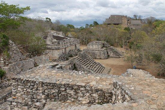 Temozón, México: Vista das ruínas a partir do Palácio Oval
