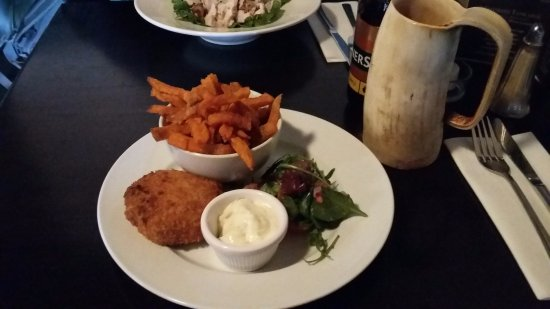 Strangford, UK: haddock and sweet potato fries
