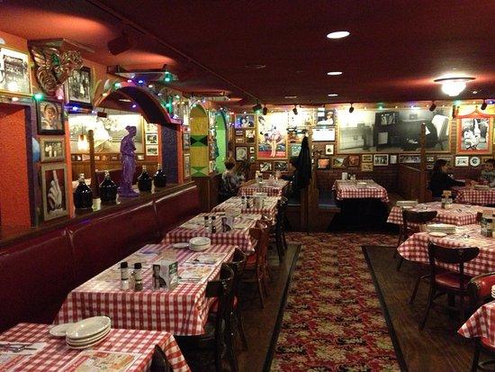 Decor inside of the restaurant picture buca di beppo