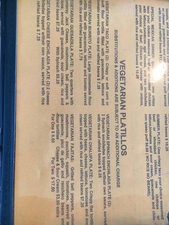 Original Mexican Cafe: Vegetarian options!
