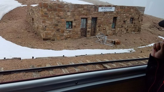 Pikes Peak: from the cog train window