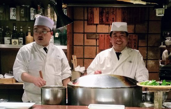 Funabashiya Honten: The head chef and his apprentice