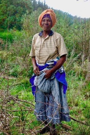 Hogsback, Южная Африка: La Señora se dedicaba a recojer frutos del suelo