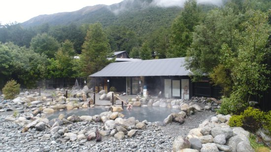 Maruia Hot Springs: Hot springs pools, sauna, steam room at maria hot springs