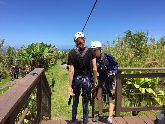 Skyline Eco Adventures - Akaka Falls: Zipline 1 - baby steps