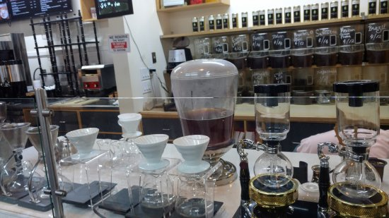 Walnut Creek, CA: The pour over magic station.