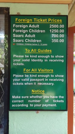 Pinnawala Elephant Orphanage: Ticket Prices