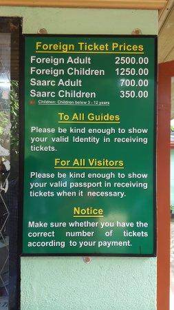 Pinnawala Elephant Orphanage : Ticket Prices