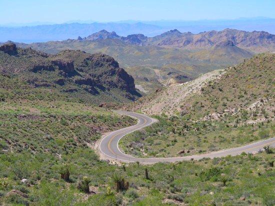Кингман, Аризона: View from the top of Sitgreaves Pass