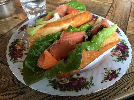 Sassafras, Australia: Salmon baguette