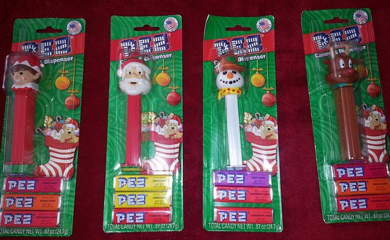 Orange, CT: Christmas character PEZ dispensers