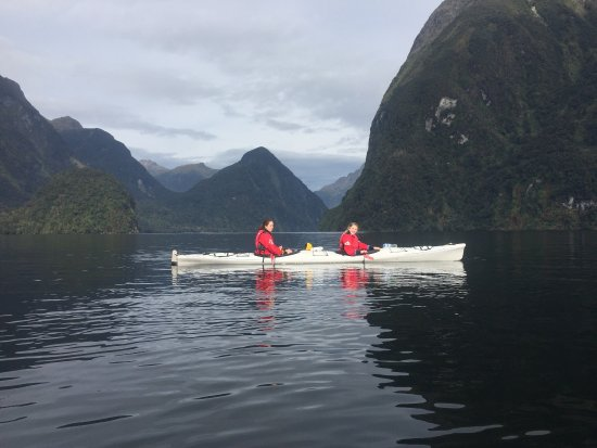 Te Anau, New Zealand: Tuesday 12 April 2017 - paddling in the clouds with Cloudi - Doubtful Sound, Southland, New Zeal