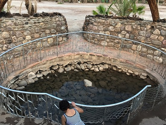 Fish River Canyon, นามิเบีย: The origin of the hot springs, at a temp of about 65 deg C