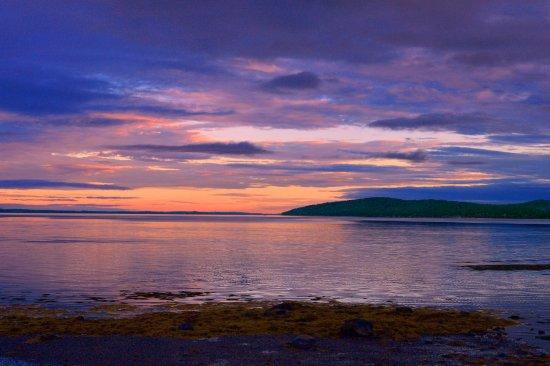 Belfast, ME: Wonderview summer sunset over the Penobscot Bay