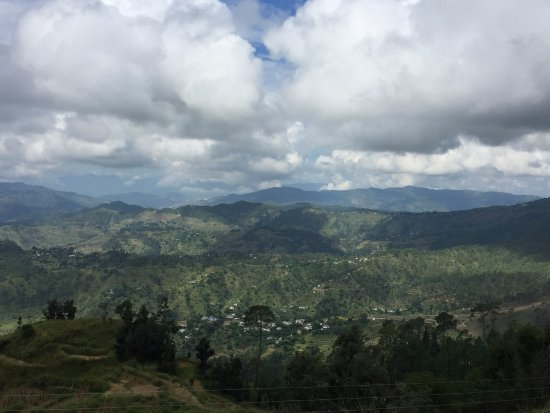 Almora, India: View of mountains