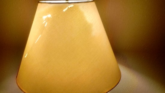 Prospect Heights, IL: Cracked lampshade (not the only one!)
