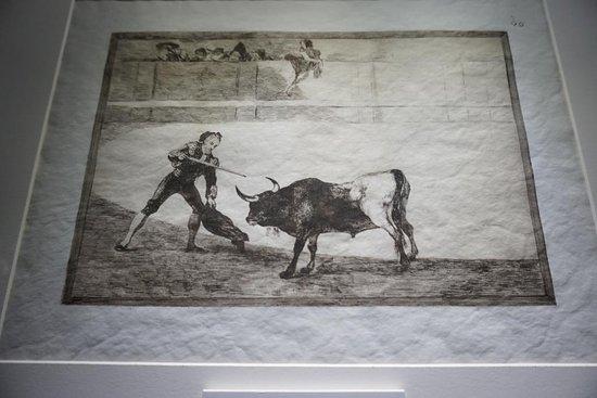 Museo Goya Colección Ibercaja: Lámina de Goya sobre la tauromaquia