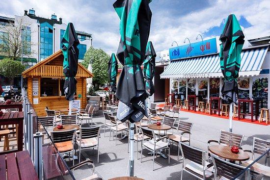 Murska Sobota, Slovenia: our terrace where we also serve food