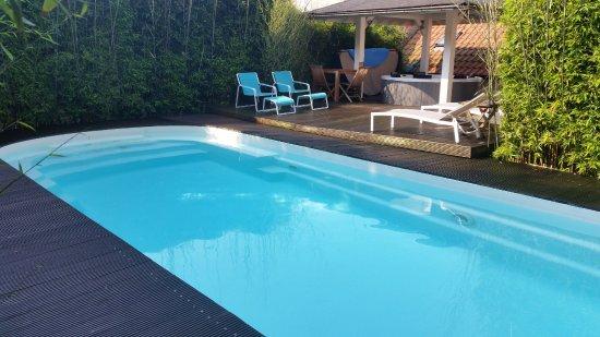 Herent, België: Zomer en winter : altijd 32° in zwembad bij Vitacuzzi