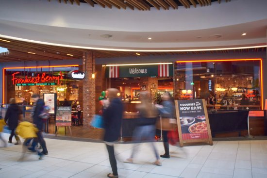 East Kilbride, UK: Frankie & Benny's at The Hub (Photo by Mark Westerby)