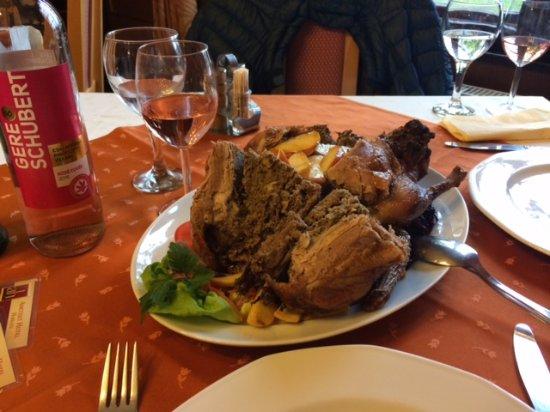 Harkany, Hungary: gefüllte ganze Ente für 2!!