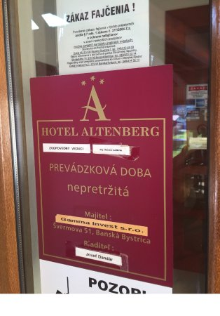 Stare Hory, Σλοβακία: Hotel Altenberg in Slovakia.