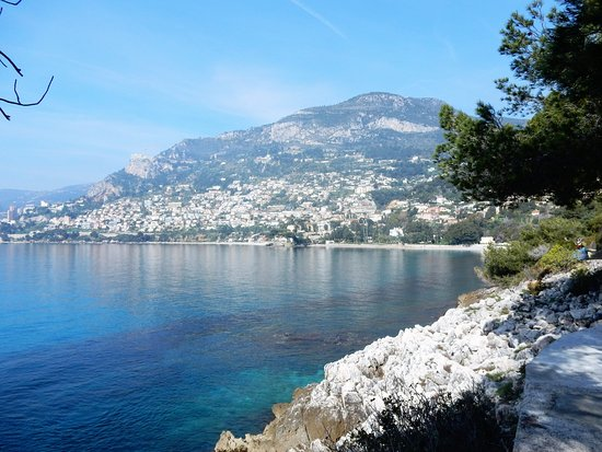 Roquebrune-Cap-Martin, France : view of Monte Carlo from the path