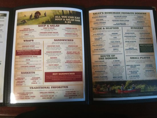 White Cloud, MI: Lunch & Dinner menu (Pizza & Ice Cream menus not shown) 4/20/17