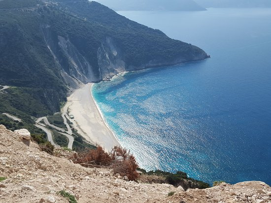 Cephalonia, Yunanistan: just from last visit .The photo is taken from the new bridge above Myrtos