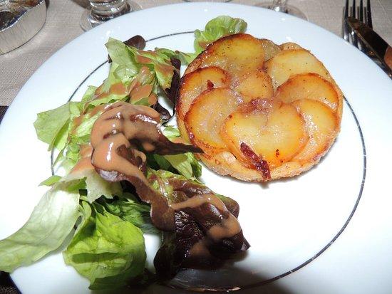 Chavannes-sur-Suran, فرنسا: Tatin de foie gras