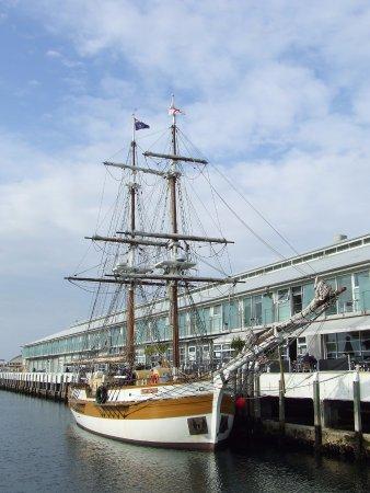 Salamanca Market: Tall Ships Next To Market