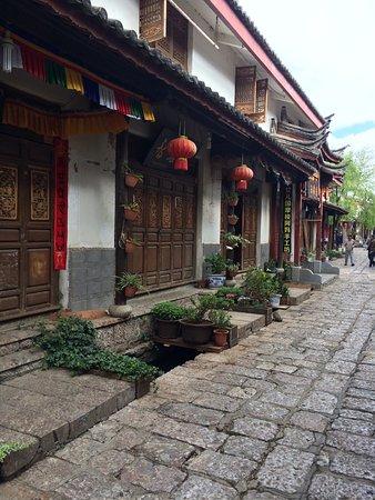 Shuhe Ancient Town: Cobblestone streets