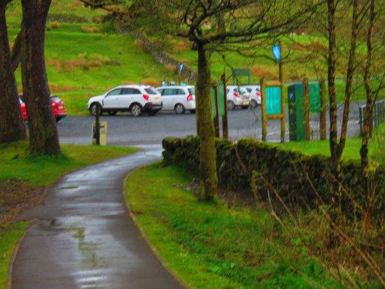 Galloway Forest Park, UK: car park