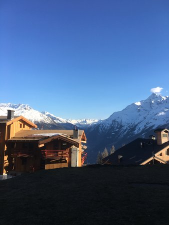 La Rosiere, Francia: View from our balcony