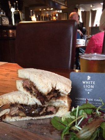 Hebden Bridge, UK: A packed steak sandwich - fabulous