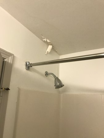 Summerville, Carolina del Sur: Dirty bathroom, no back to remote! Peeling ceiling! Dirty pool! Paid $169 a night for this?