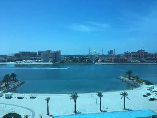 View from room at Fairmont Bab Al Bahr Abu Dhabi
