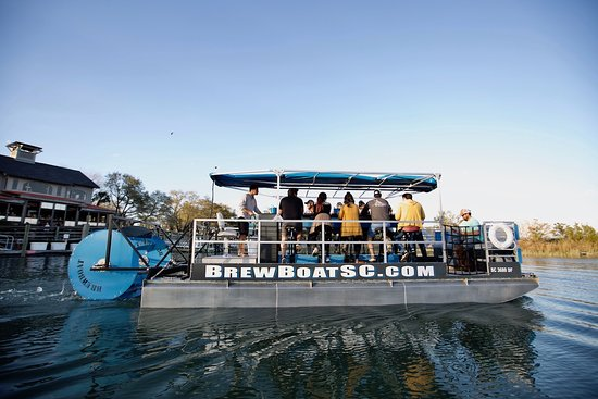 Murrells Inlet, SC: The BrewBoat is South Carolinas first and only aquatic pedal pub.