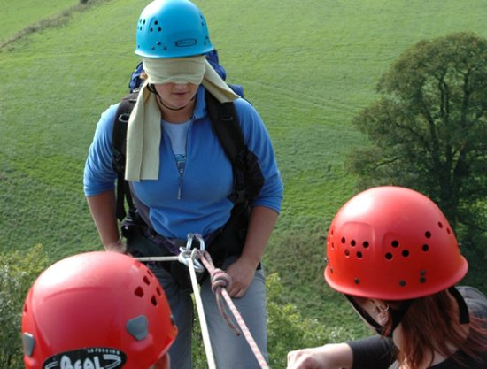 Kendal, UK: Abseiling, with a twist, in the Lake District