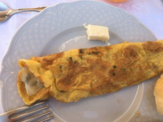 Mango, Italy: Omelett mit Gorgonzola