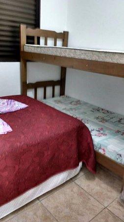 Boicucanga, SP: Quarto 02 - Cama Casal e Beliche