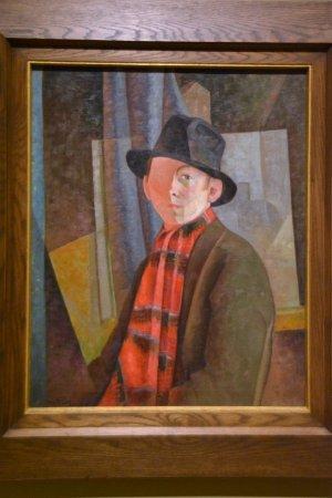 Quebec City, Canada: Jean Dallaire, peintre québécois, auto portrait