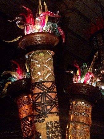 Disney's Animal Kingdom Villas - Kidani Village : Lobby fixture at night!