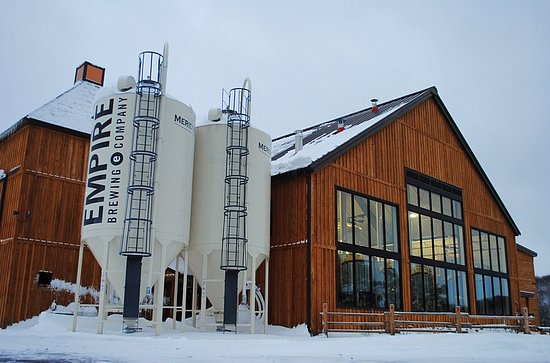 Cazenovia, NY: Snowy day at Empire Farm Brewery