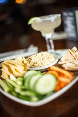 Gilford, NH: House made hummus and GF Menu voted Best of NH 2017