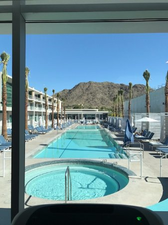 Paradise Valley, AZ: View from the hotel gym (notice the construction on the left, they're still building condos)