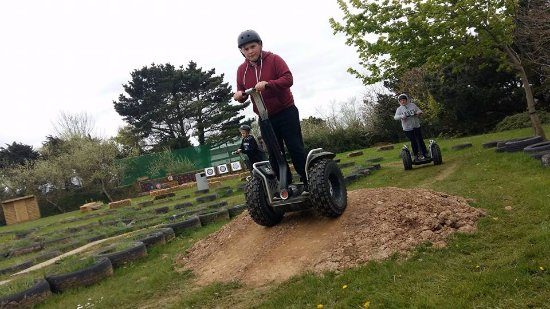 Newquay, UK: Segway is great for all the family! On our newly updated off road track!